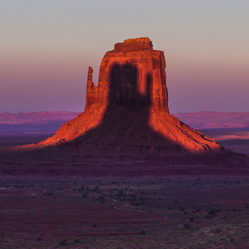 Planning the Monument Valley Mitten Shadow - The Photographer's Ephemeris
