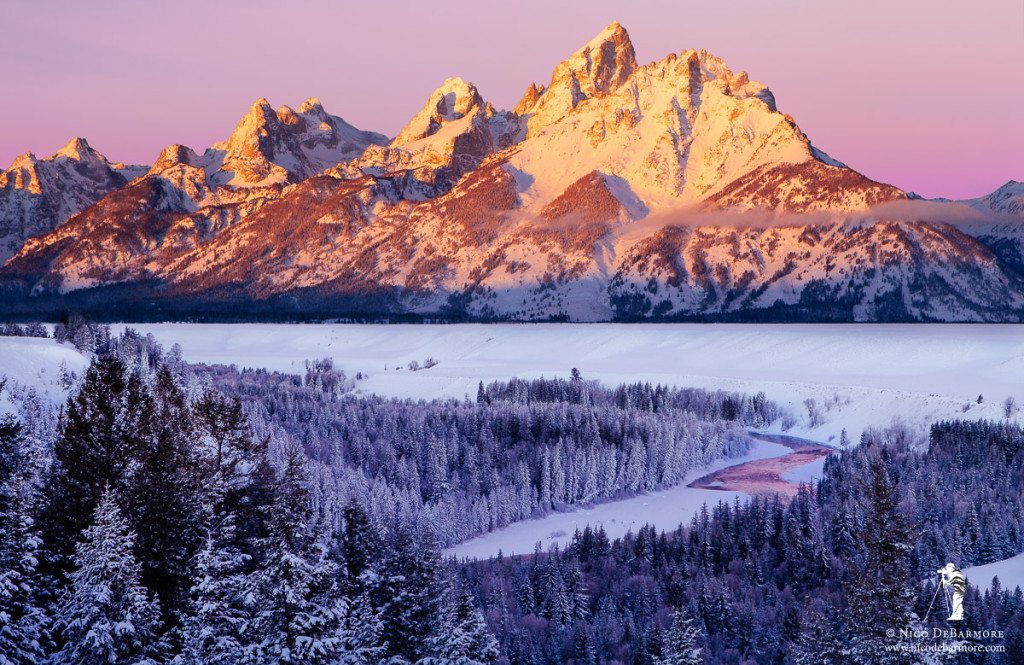 Sunrise on Snowy Tetons